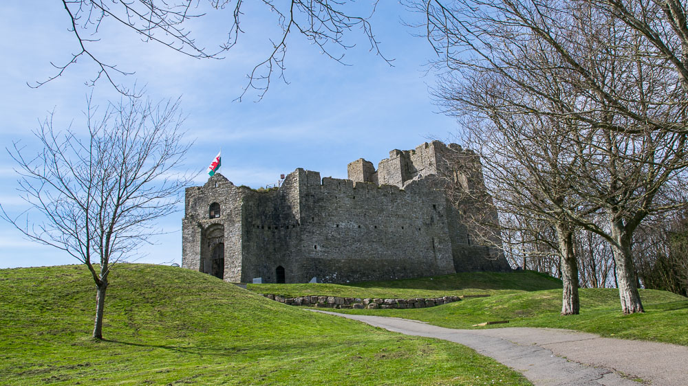 Oystermouth Castle entrance