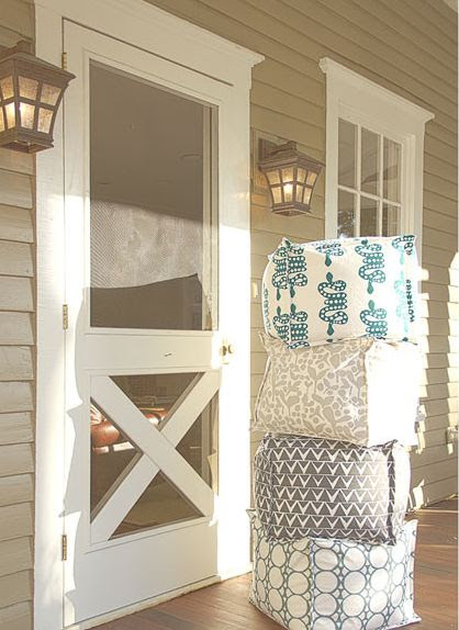 Farmhouse Inspired Screen Door Makeover