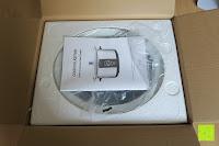 Verpackung öffnen: Andrew James 3,5L Sizzle to Simmer 2 in 1 Digitaler Schongarer mit Entnehmbarer Aluminiumbratpfanne – Zum Braten, scharf Anbraten, Sautieren und Dämpfen – 2 Jahre Garantie