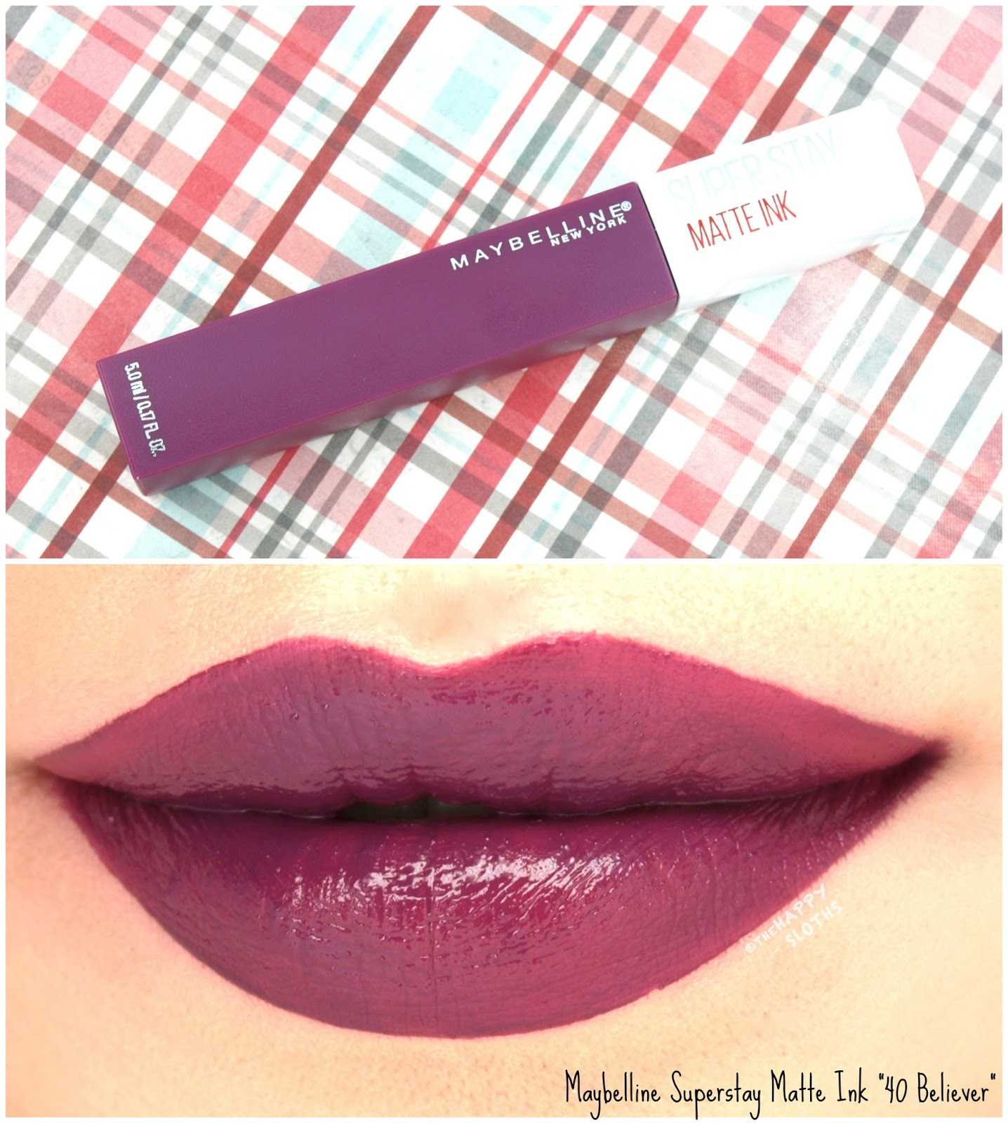 Maybelline Superstay Matte Ink Liquid Lipstick | 40 Believer: Review and Swatches