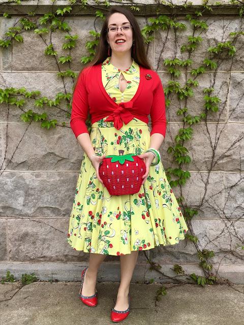Trashy Diva Berry Chantilly Hopscotch and strawberry purse