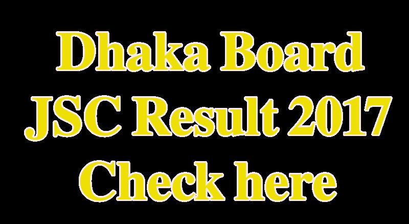 Dhaka Board JSC Result 2018