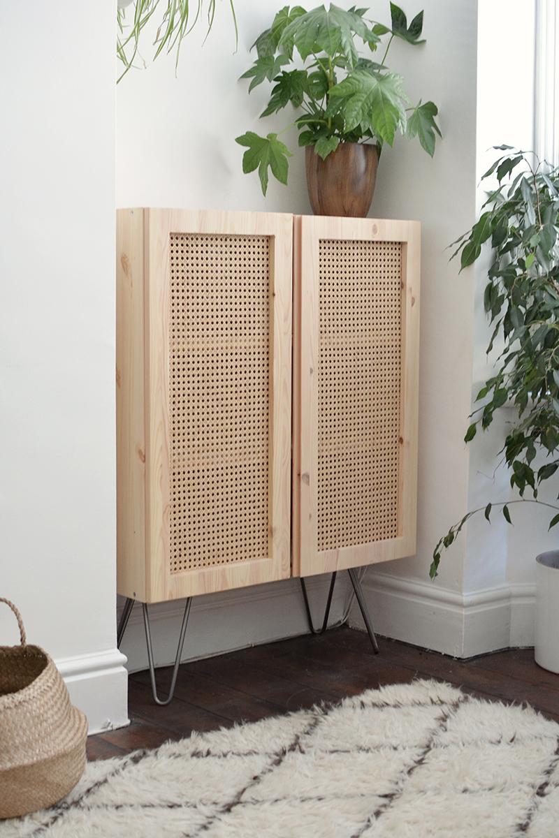 rattan cabinet IKEA hack