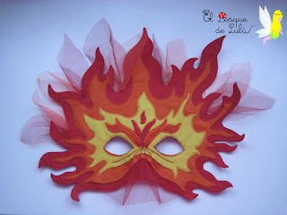 máscara-carnaval-fieltro-fuego-antorcha-olímpico-elbosquedelulu-hechoamanoparati-disfraz-original-llamaradas