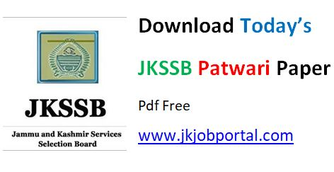 jkssb lab assistant answer key download