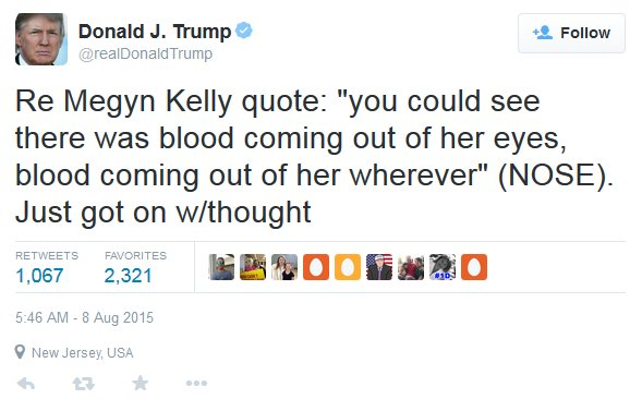 Trump Tweet -  Megyn Kelly
