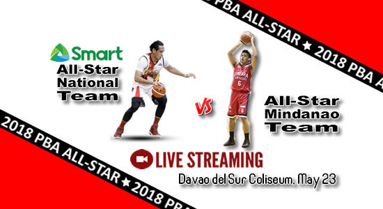 Livestream List: Smart All-Star national Team vs All-Star Mindanao May 23, 2018 PBA All Star