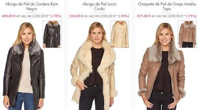 abrigos piel mujer