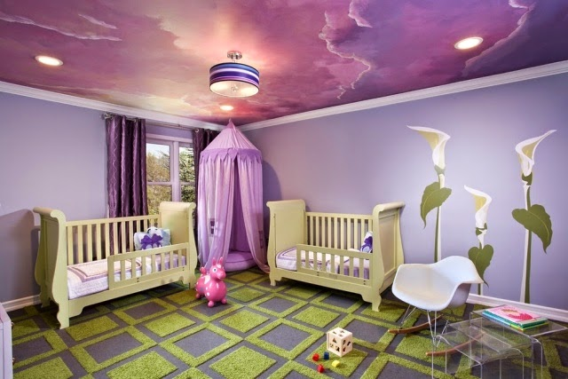 15 Cool ceiling design ideas for kids room interior