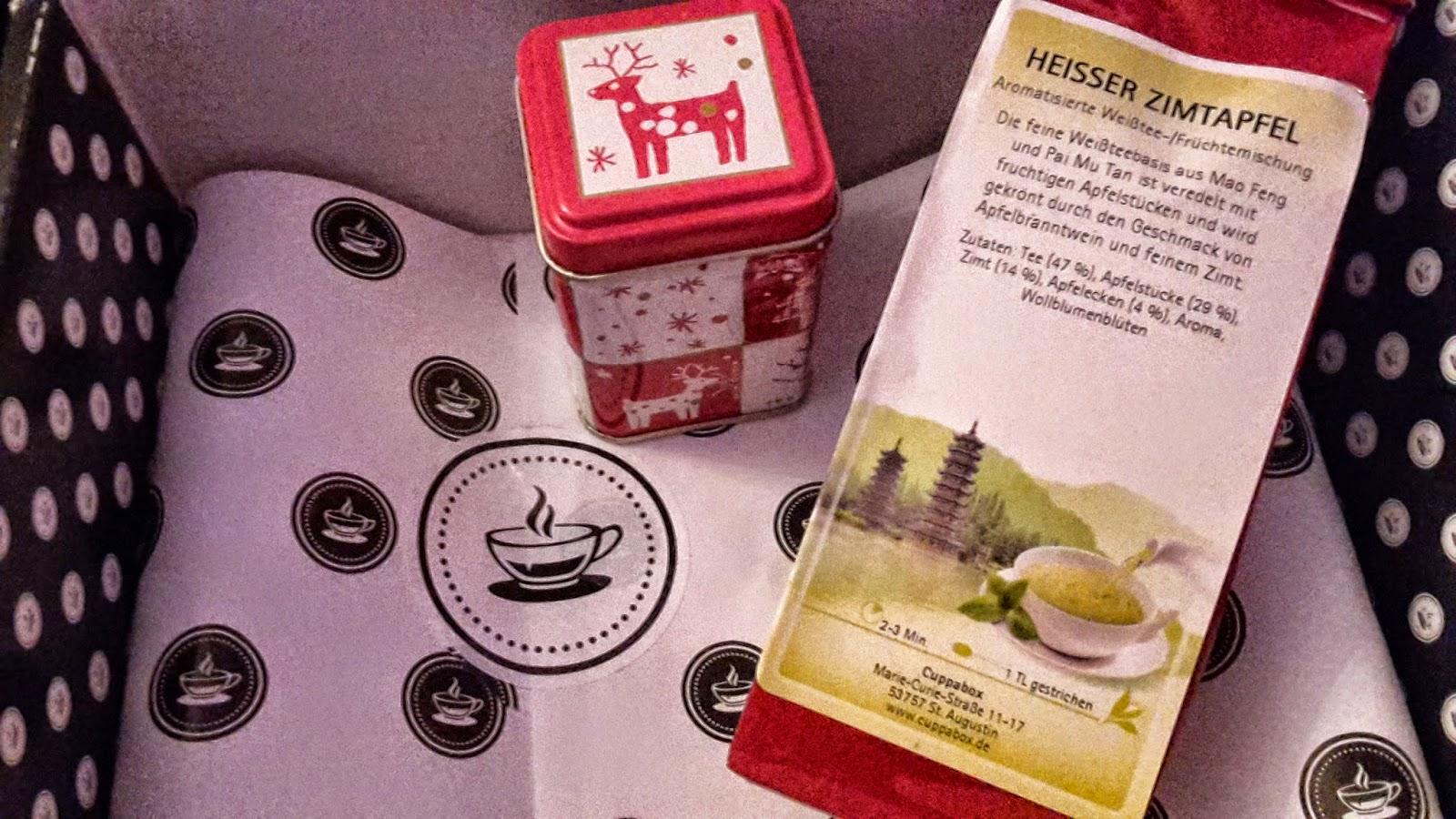 Cuppabox mit hochwertigem Tee