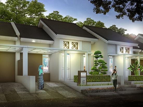 Desain rumah minimalis ukuran 7x15 meter 2 kamar tidur 1 lantai