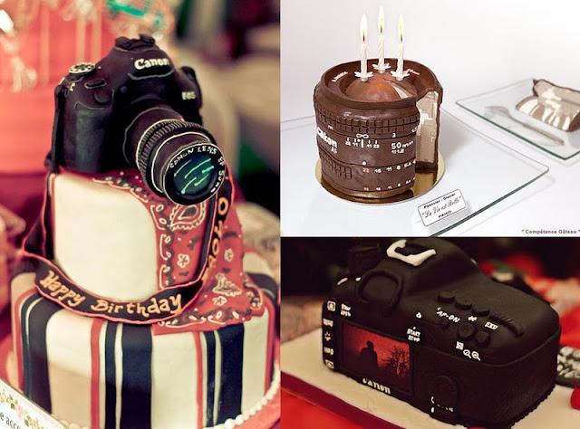 fotoğraf makinesi pasta modeli