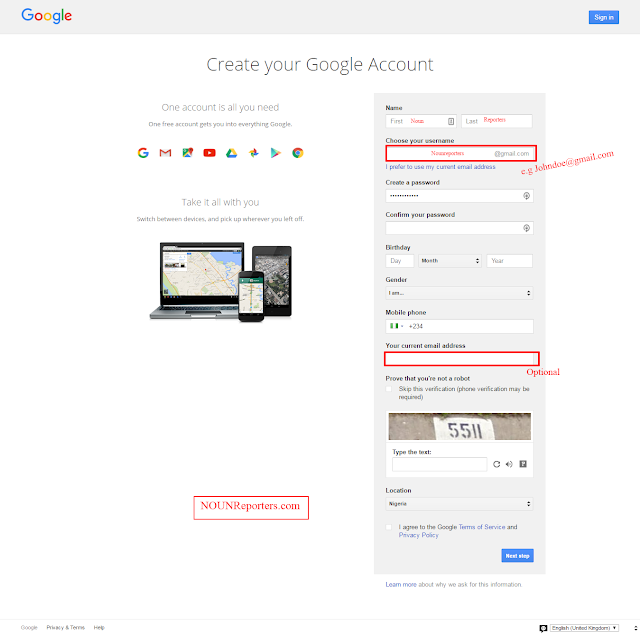 How to Create your Google Account