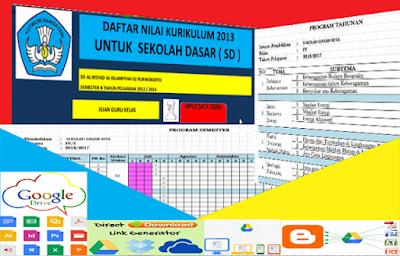 Contoh Format Perangkat Administrasi Guru Kelas 1 dan 4 SD Kurikulum 2013 Tahun 2016