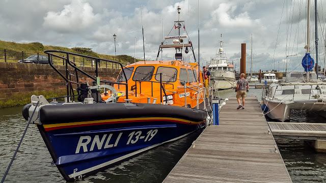 Photo of the new Workington lifeboat at Maryport Marina
