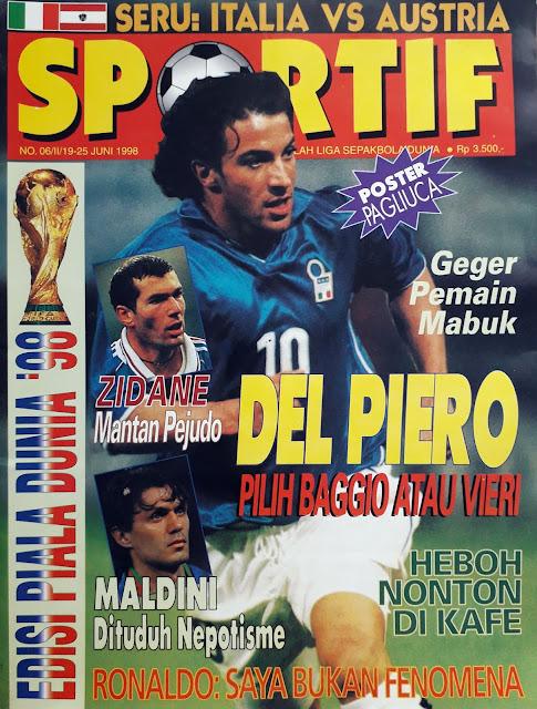 SOCCER MAGAZINE COVER ALESSANDRO DEL PIERO