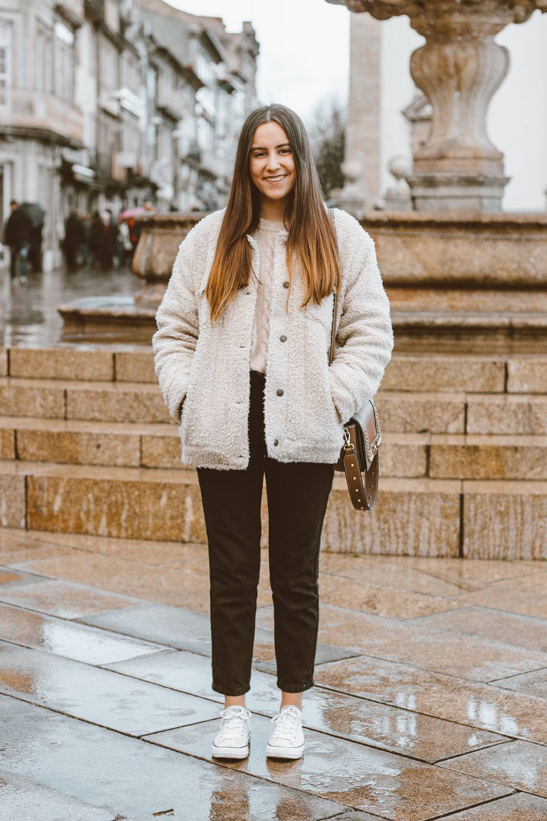 look inverno confortavel mom jeans all star
