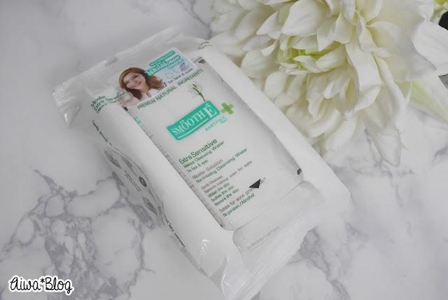 :: รีวิวผ้าเช็ดเครื่องสำอาง Smooth E Micellar Extra Sensitive Makeup Cleansing Wipes ::