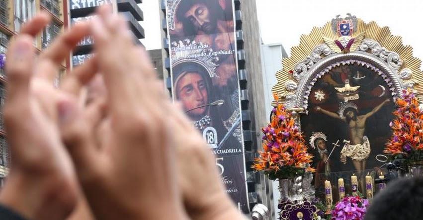 SEÑOR DE LOS MILAGROS 2018: Recorrido de la procesión de mañana jueves 1 de noviembre - EN VIVO - www.nazarenas.tv
