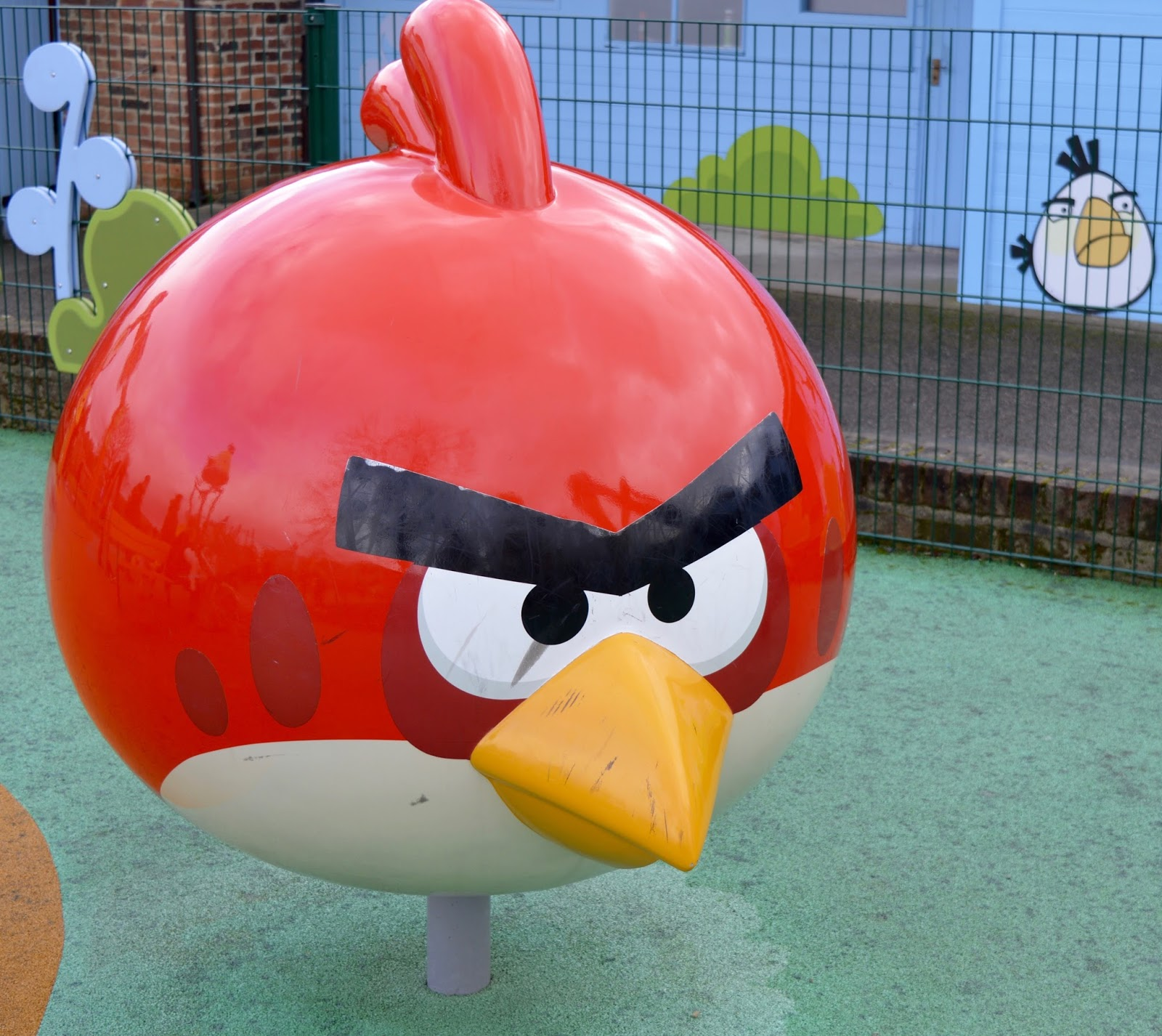 Visiting Angry Birds Activity Park at Lightwater Valley, North Yorkshire - red angry bird
