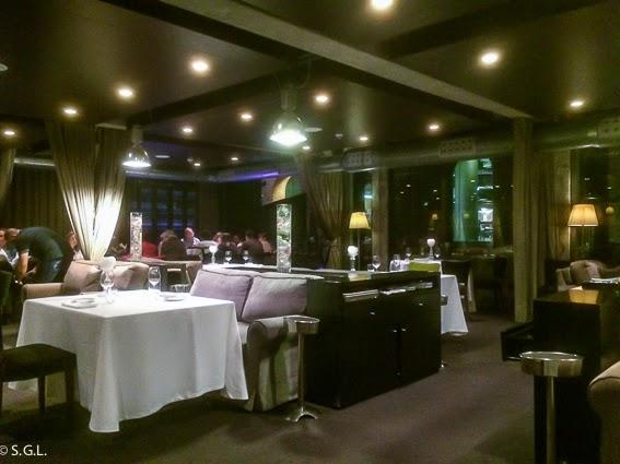 Comedor del restaurante Yandiola en Bilbao