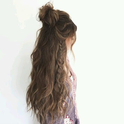 free people, hair, braids, top knot, trend, summer, hairstyle, beauty, hack