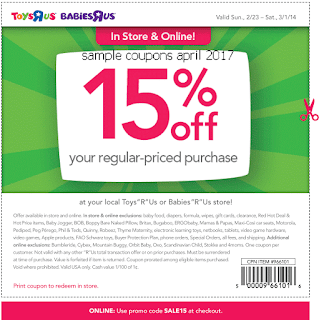 Babies R Us coupons for april 2017