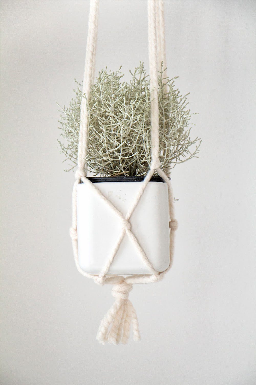 chi chi dee handmade diy macrame pot hanger tutorial. Black Bedroom Furniture Sets. Home Design Ideas