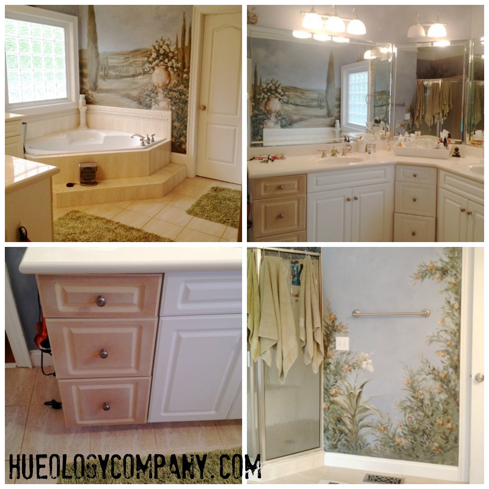 Hueology: Painting Bathroom Cabinets