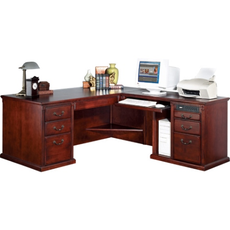 l-shaped wood desks for home office