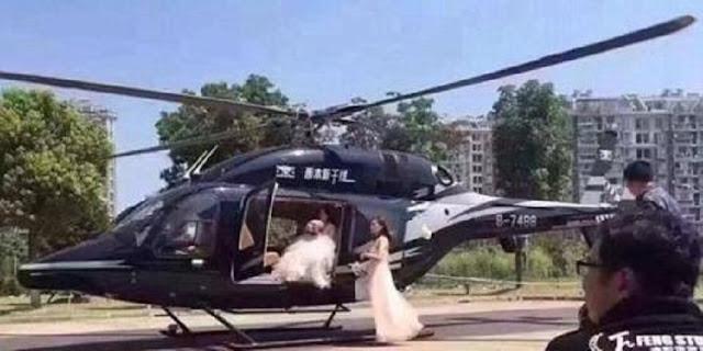 Zhao Dikecam Public, Karena Jemput Calon Istri Yang Terjebak Macet Di Jalanan, Menggunakan Helikopter