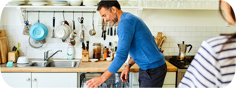 Tarefas domésticas - ajudar versus partilhar