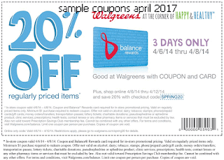 Walgreens coupons for april 2017