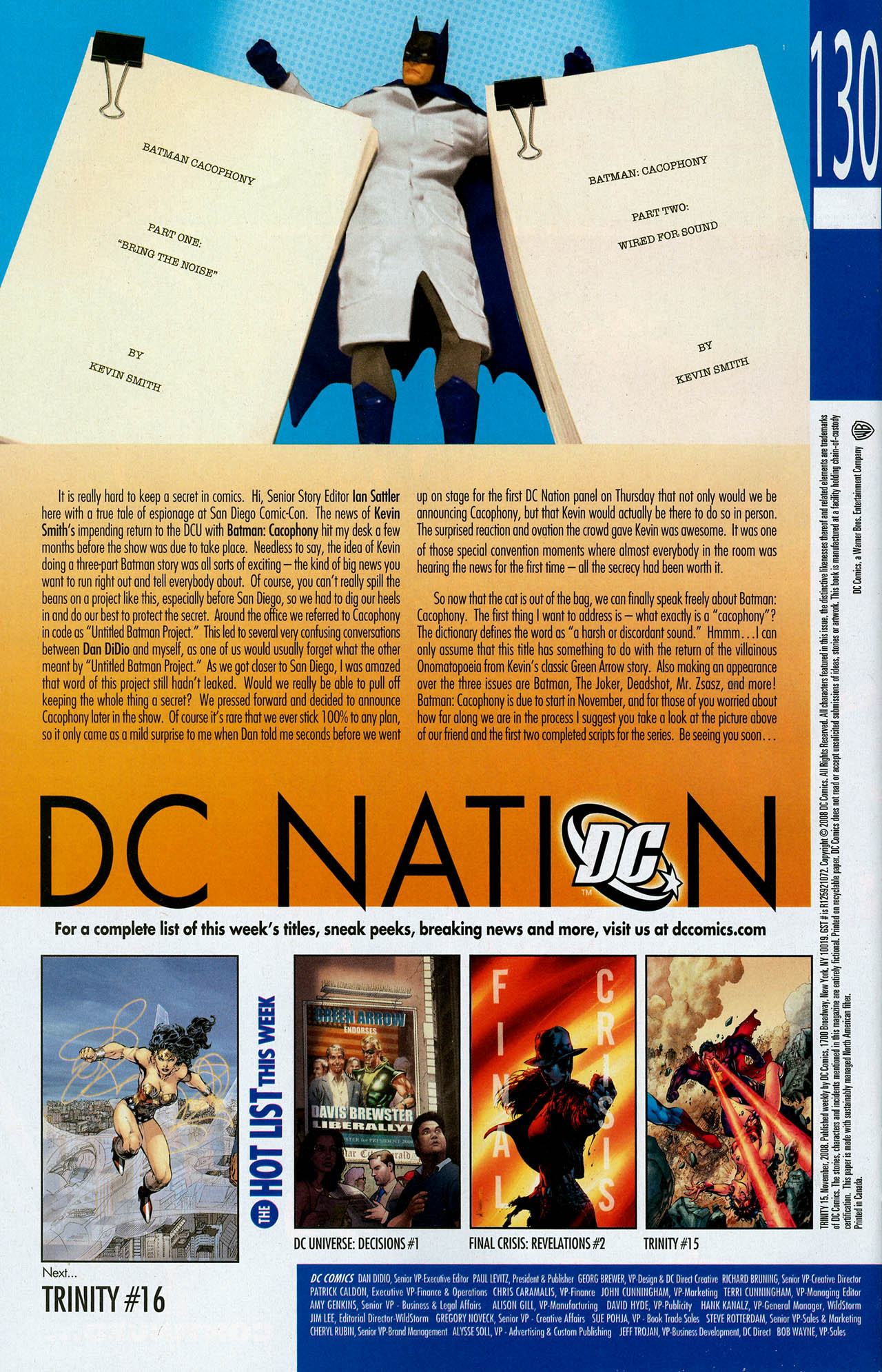 Read online Trinity (2008) comic -  Issue #15 - 32