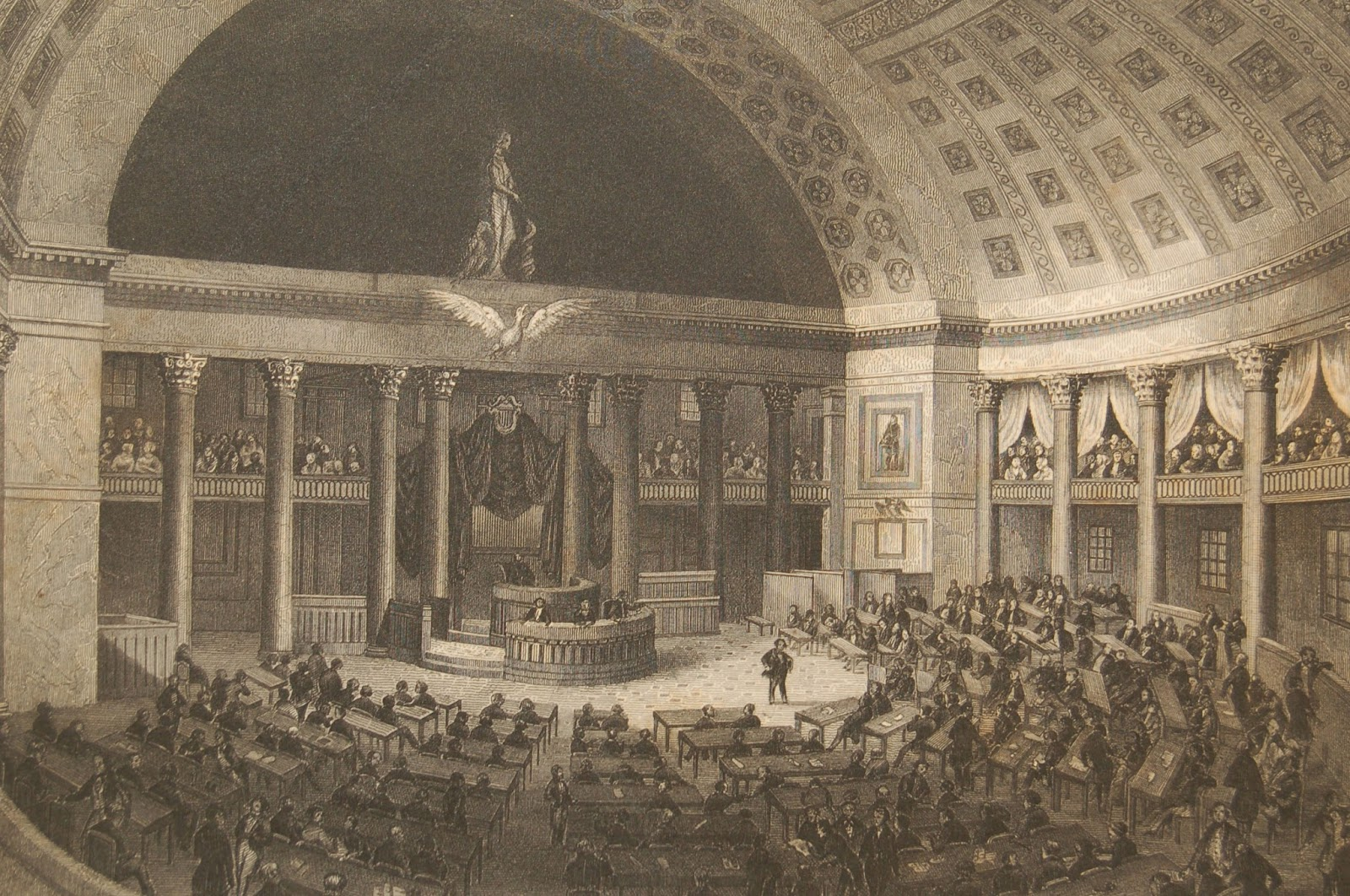 Old House Chamber engraving in 1882