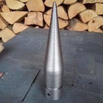 Štiepací hrot na kuželovú štiepačku dreva zhotovenú z elektromotora. 03f9e32ecf4