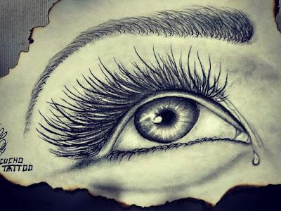 Dibujo a lápiz de ojo