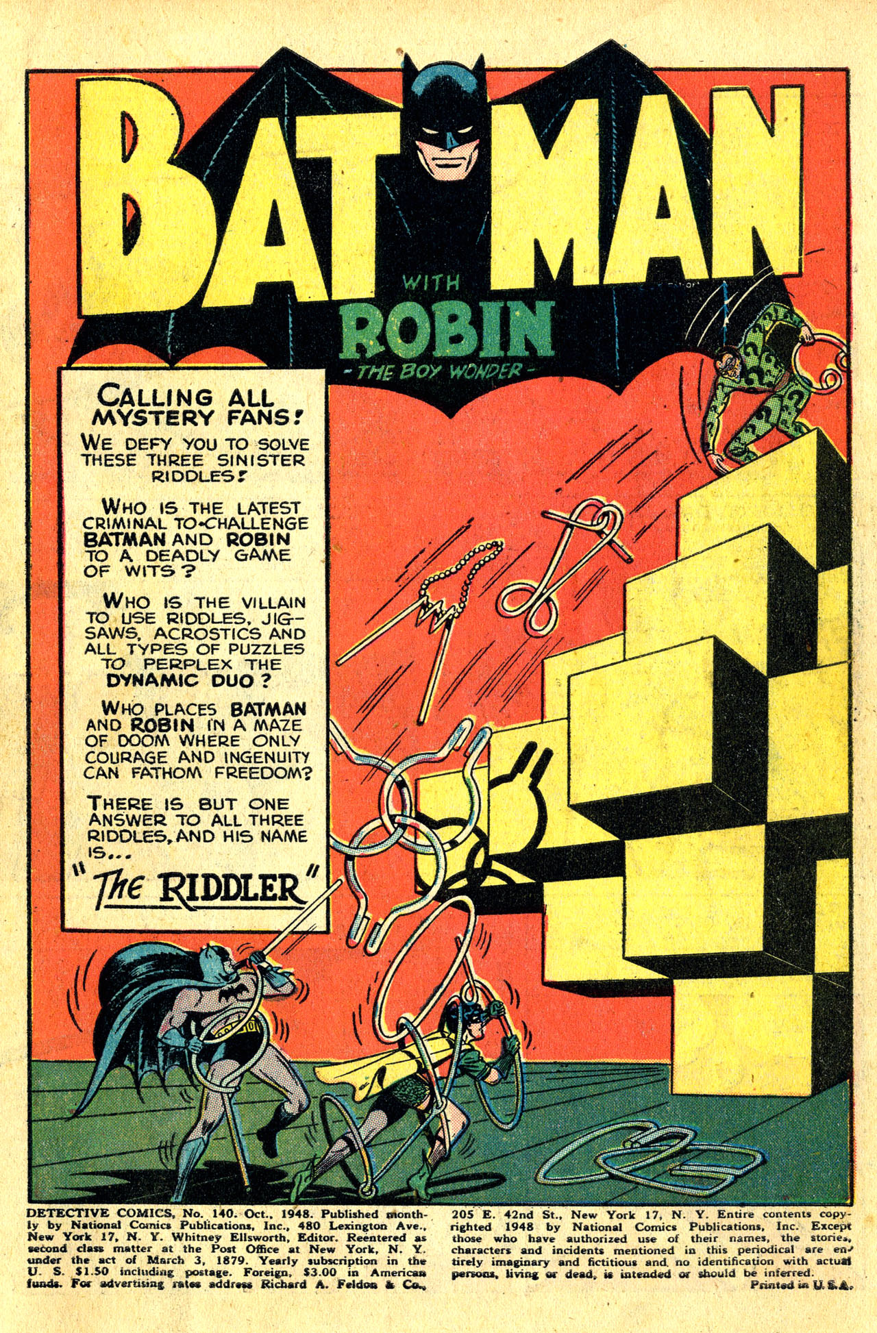 Read online Detective Comics (1937) comic -  Issue #140 - 3