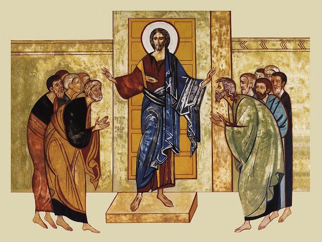Jesucristo resucitado enviando a sus discípulos