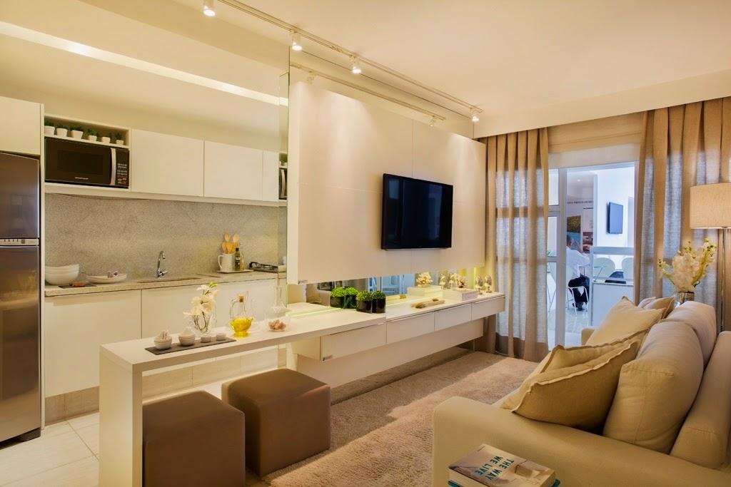 Construindo minha casa clean 12 ideias incr veis de for Idea decorativa sala de estar pequeno espacio
