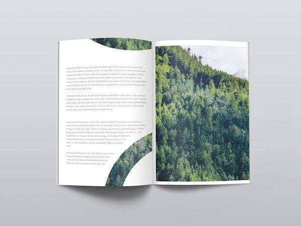 Download Ultra Clean Free PSD Magazine Mockup Free