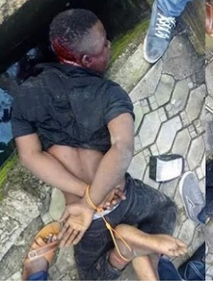 Car tracker exposes Car snatcher hideout, tied up after arrest (photos)