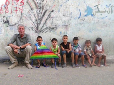 Anthony Bourdain and Palestinian Children in Gaza