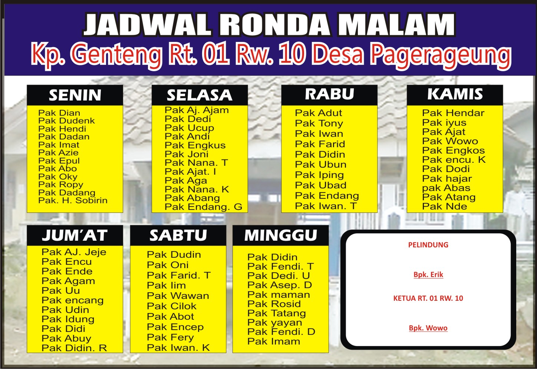 Download Contoh Jadwal Ronda Cdr Karyaku