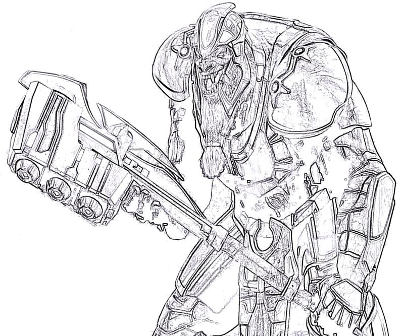 coloring pages halo 3 - photo#38