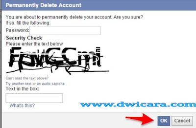 cara menghapus akun facebook di laptop