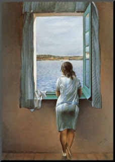 Girl at the Window by Salvador Dali