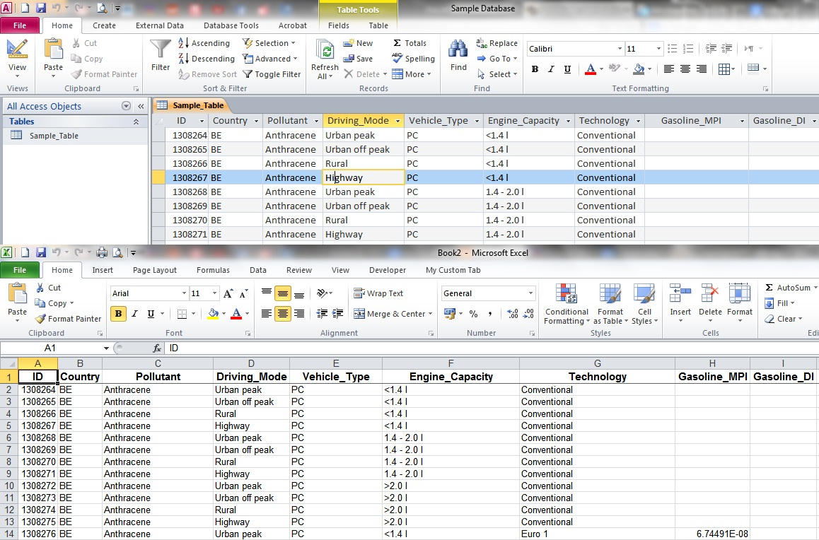 export access data to excel template - export a large access table query to excel my