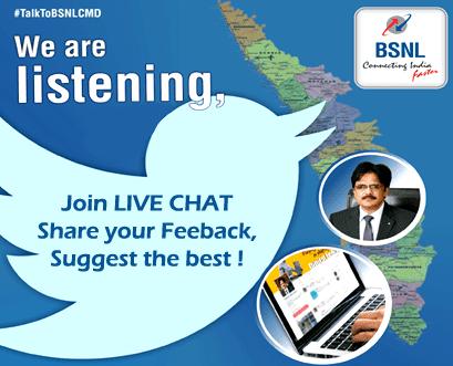 BSNL CMD Live Chat Twitter
