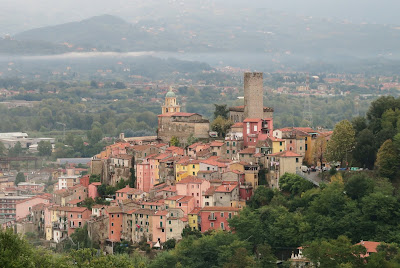 Italian Hill Town of Arcola in Liguria